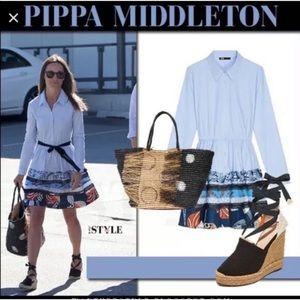 Maje PIPPA MIDDLETON Rafina Cotton Shirt Dress
